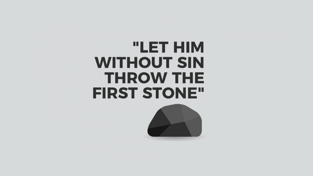 Let Him Without Sin Throw the First Stone Image